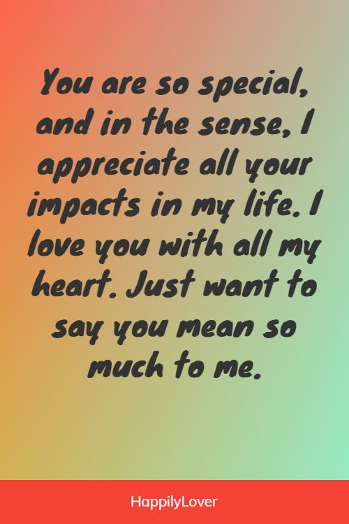cute you mean the world to me quotes