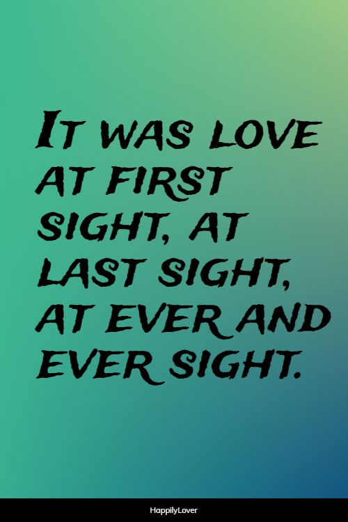 first romantic love quotes