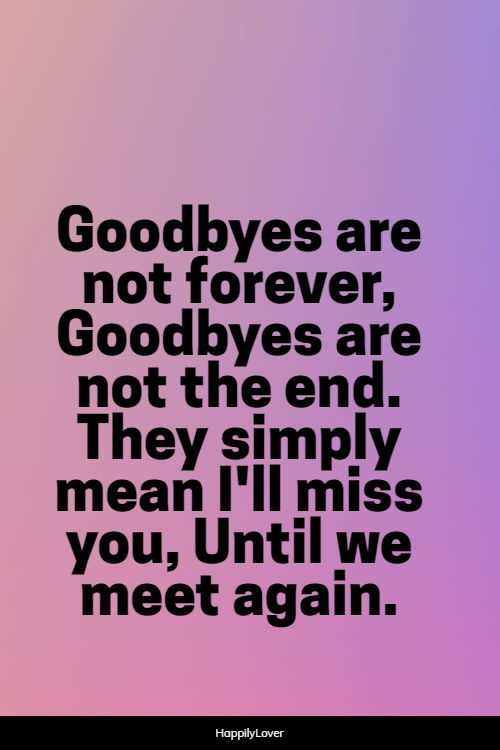 endless goodbye quotes