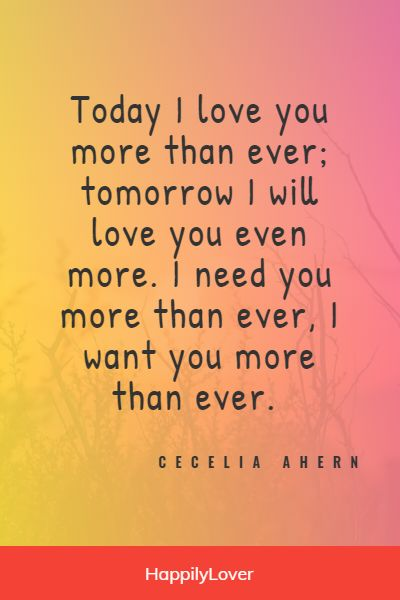 I love you more than you think